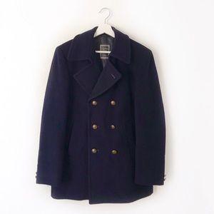 Christian Dior Men's Navy Blue Wool Winter Coat
